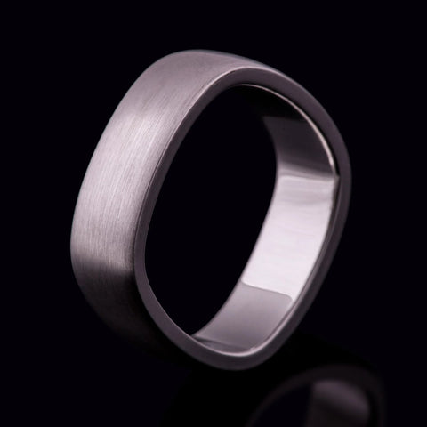 Mens wedding ring Gents wedding band brushed finish matte texture