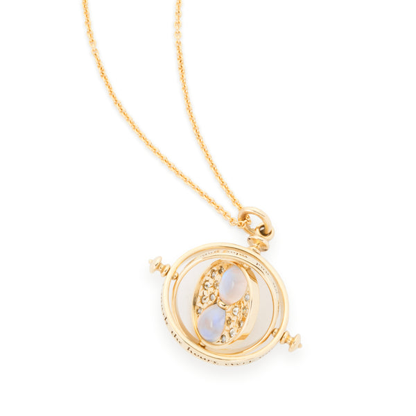 Time Turner Diamond and Moonstone Necklace