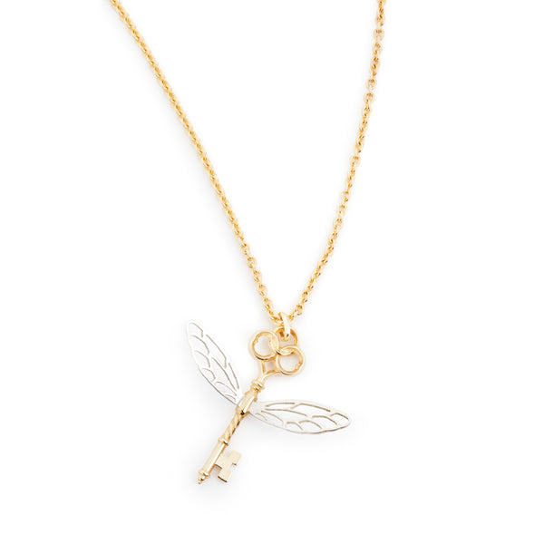 Winged Key Necklace