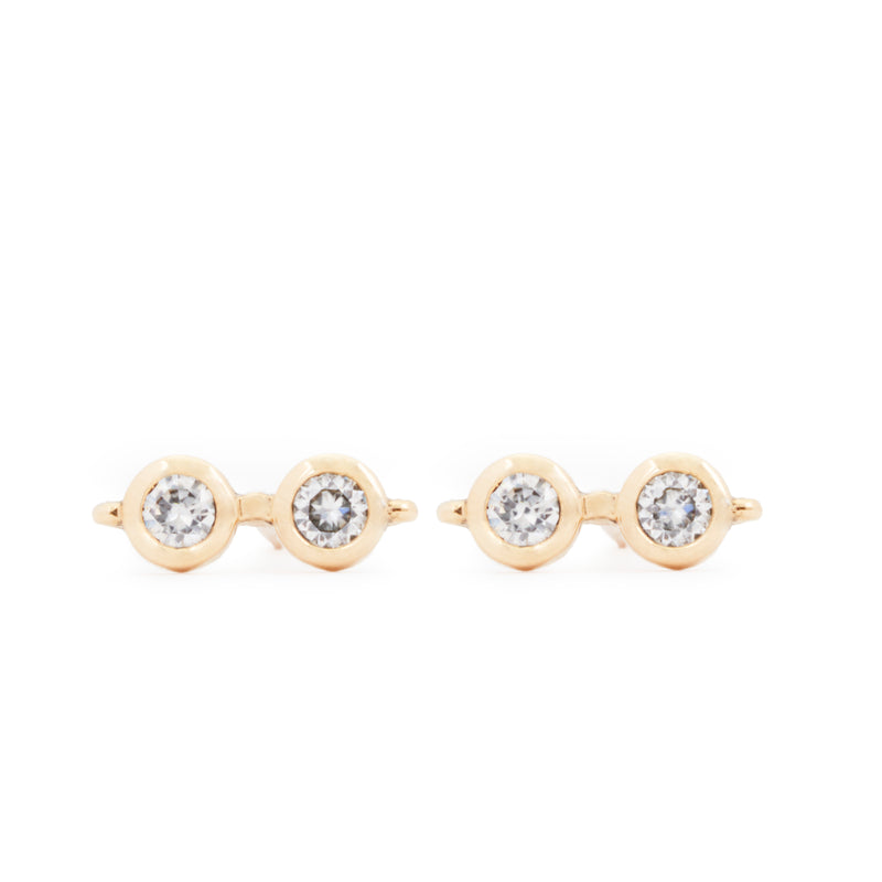 Harry's Glasses Diamond Stud Earrings