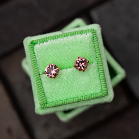 Pink Morganite Earrings