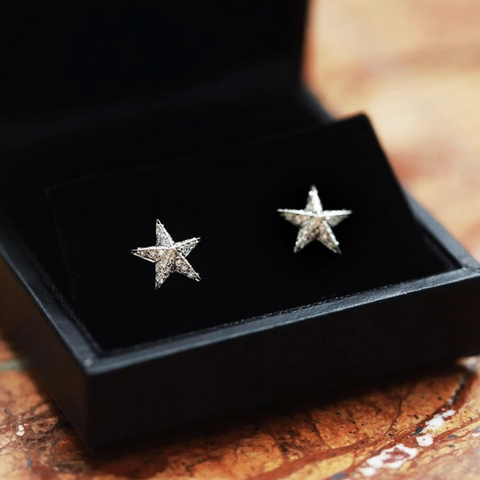White Diamond Celestial Earrings