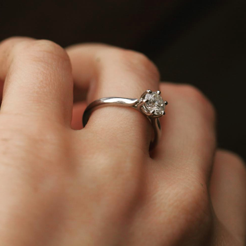 Isela Solitaire Six-Prong Ring Setting