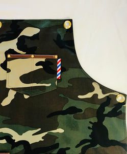 Barber Apron (Green Camo)
