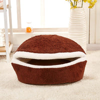 Hamburger Bed Disassemblability Windproof Pet Puppy Nest