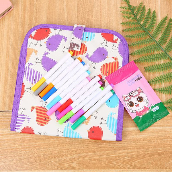 Children's Erasable Drawing Double-sided Small Blackboard Watercolor Strokes Board