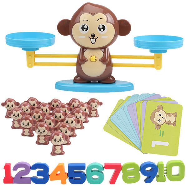 Math Match Game Board Toys Monkey Digital Balance
