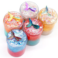 Mermaid Slime Crystal DIY Pearlescent Mud