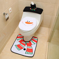 3 In 1 Christmas Toliet Seat Cover Set