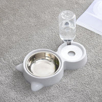 Automatic Pet Feeder Water Dispenser Drinking Bowl