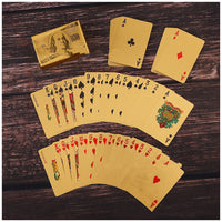 Luxury 24K Gold Foil Playing Poker Cards