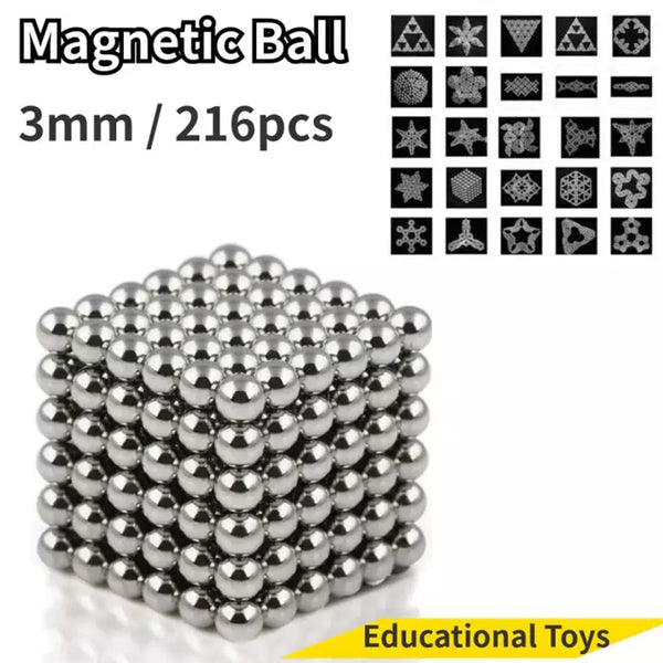 3MM 216 PCS Multi-Molding Neodymium Magnetic Balls