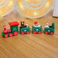 Christmas Wooden Train Ornaments Children's Christmas Gifts