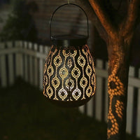 Hollow Vase Shape Warm Light Waterproof Solar Lawn Lights