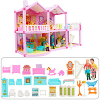 DIY Family Doll House Dolls Accessories Toy