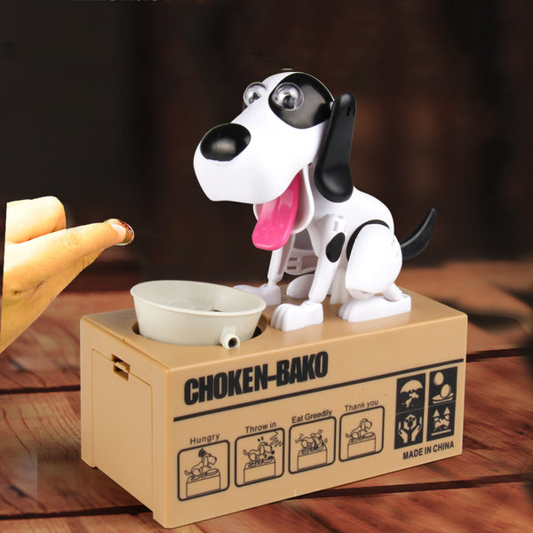 Electric Hungry Cute Eating Dog Money Boxes