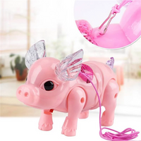 Electric Lighting Music Rope Pig