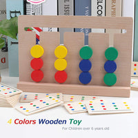 Training Kids Double Sided Matching Game Wooden Toy