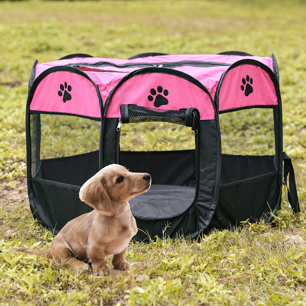 Portable Octagonal Folding Pet House Cage Tent
