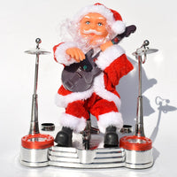 Electric Santa Claus Playing Piano Music Toy