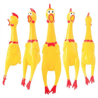 Squeak Rooster Toys Screaming Rubber Chicken Pet Squeeze Sound Toy Shrilling Decompression Tool