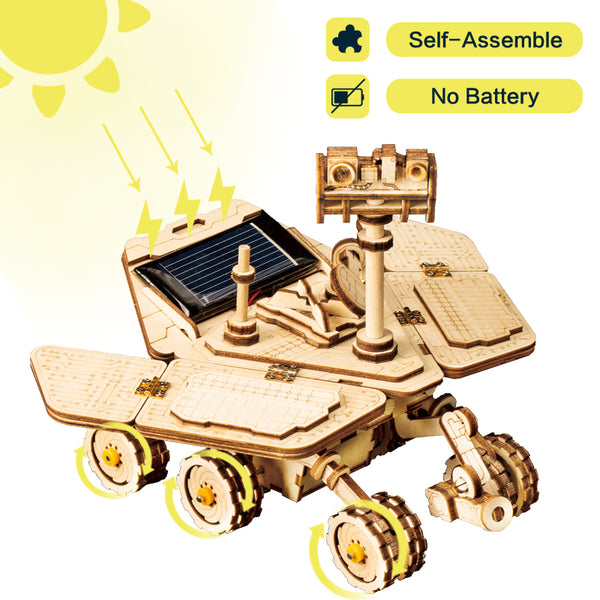 DIY 3D Wooden Solar Energy Powered Moveable Space Hunting Model