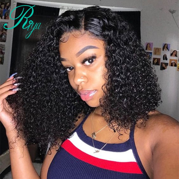 Ihrtrade wigs for Women Short Curly Lace