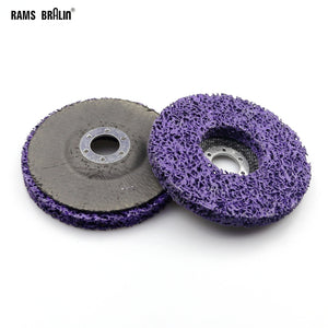 125mm Poly Strip Disc Abrasive Wheel Paint Rust Removal Clean For Angle Grinder