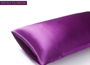 100% Silk Pillowcase Premium Deluxe Envelope Closure Silk Both Sides Choose colour