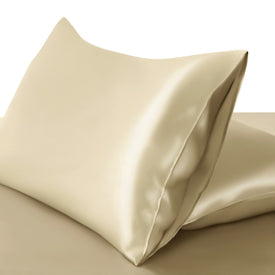 100% Mulberry Silk Pillowcase Premium Deluxe Fitted Closure Silk Both Sides Choose colour