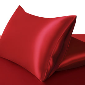 100% Silk Pillowcase Twin Pack 22 Momme Deluxe Envelope Closure Silk Both Sides. Choose Colour