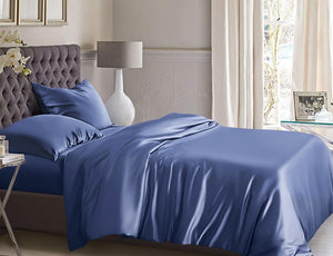 100% Silk Doona/ Duvet cover set. SIX COLOURS 22 Momme Mulberry Silk QUEEN SIZE Includes 2 x Pure silk Pillowcases