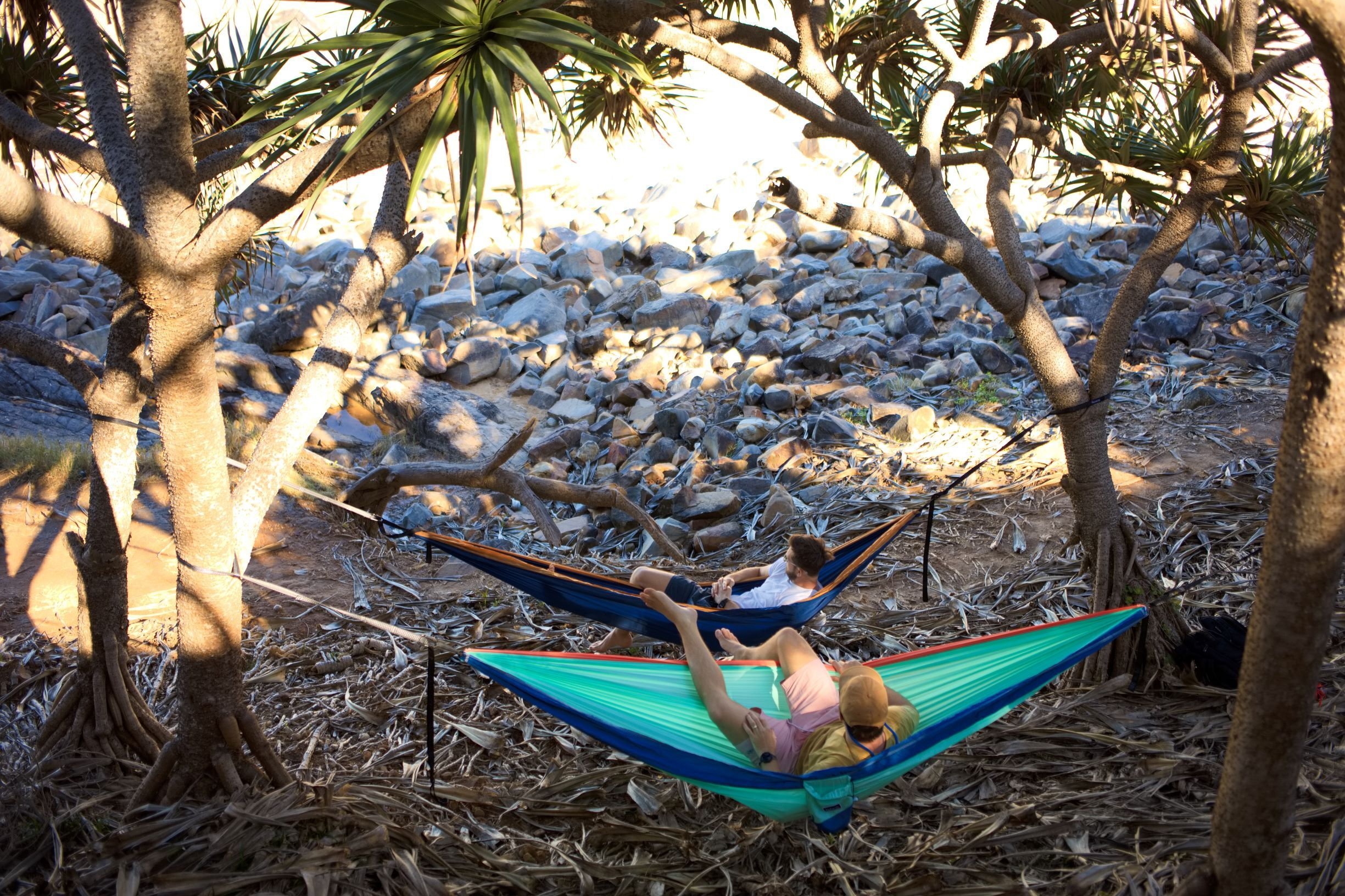 Recycled Double Hammock with Straps x 2 - Couple Combo - Nakie