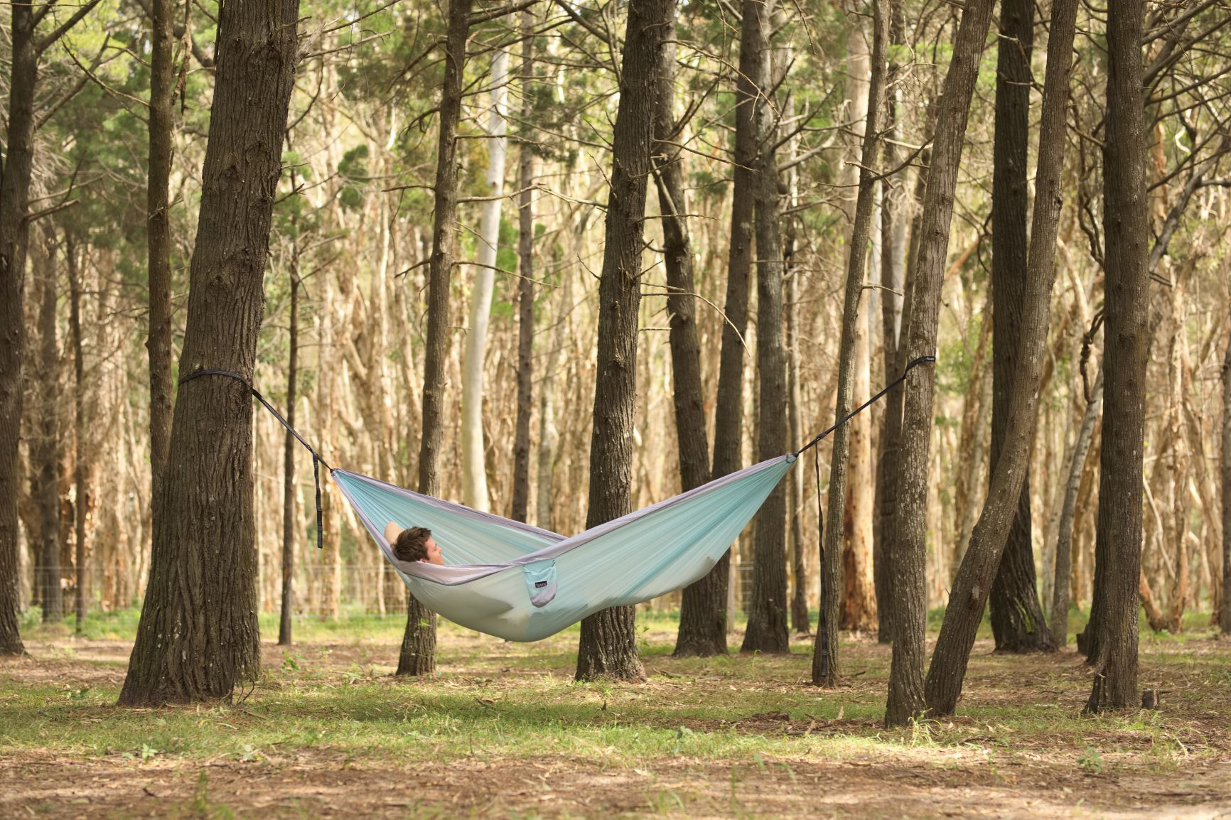 Twilight Blue - Recycled Double Hammock with Straps - Nakie
