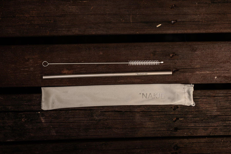 Titanium Reusable Straws (3 Pack) - Nakie