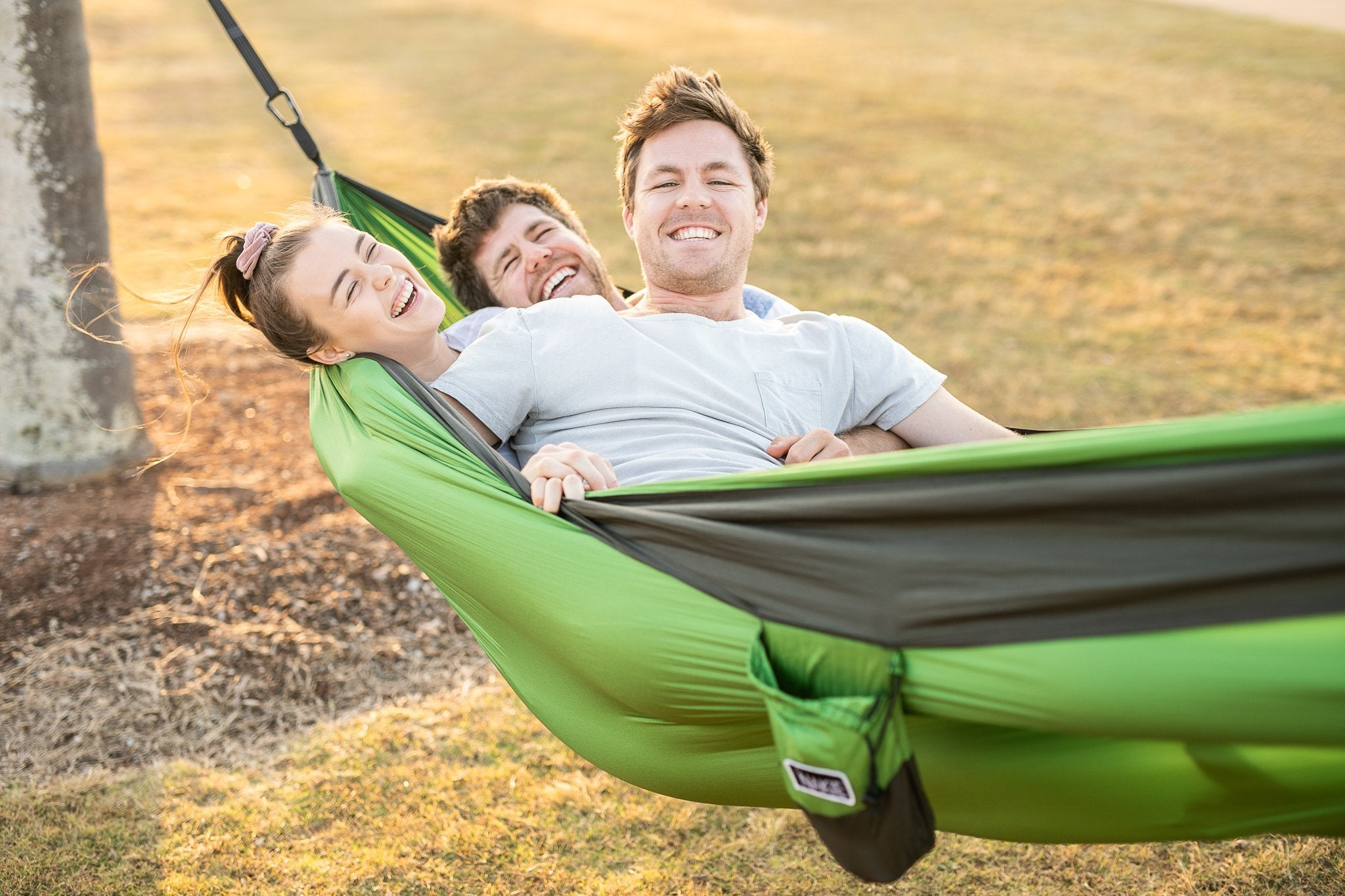 Forrest Green - Recycled Double Hammock with Straps - Nakie