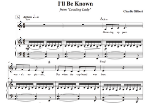 "Sheet Music for ""I'll Be Known"""