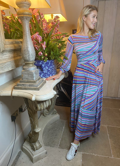The ASTRID Bell Sleeve Maxi Dress