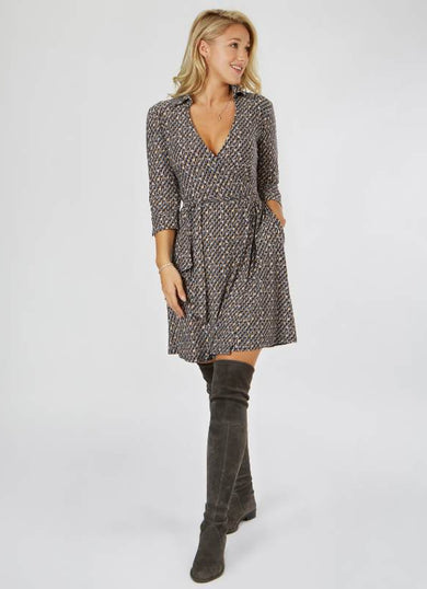 The ESME shirt wrap dress
