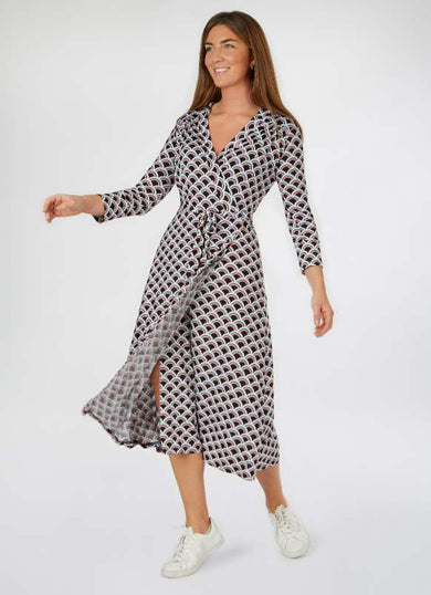 The ISLA fan wrap dress