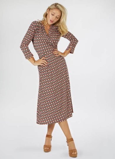 The DARCY Mosaic wrap dress