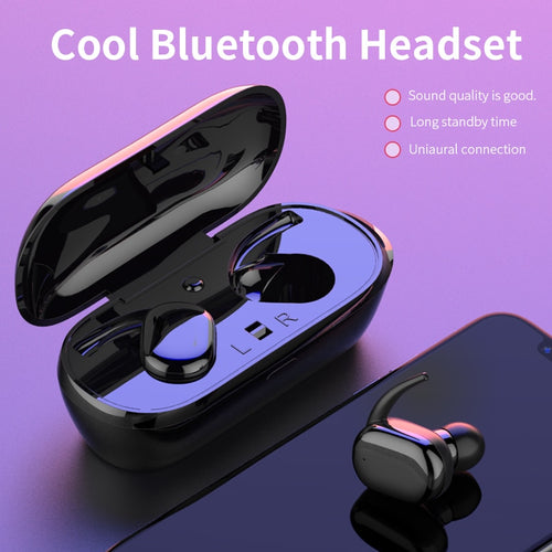 Mini TWS Stereo Bluetooth Earphone For Xiaomi Huawei Earbud Sport With Mic Portable Charging Box
