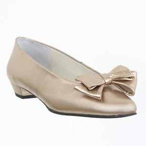 Ahimsa gold leather bow