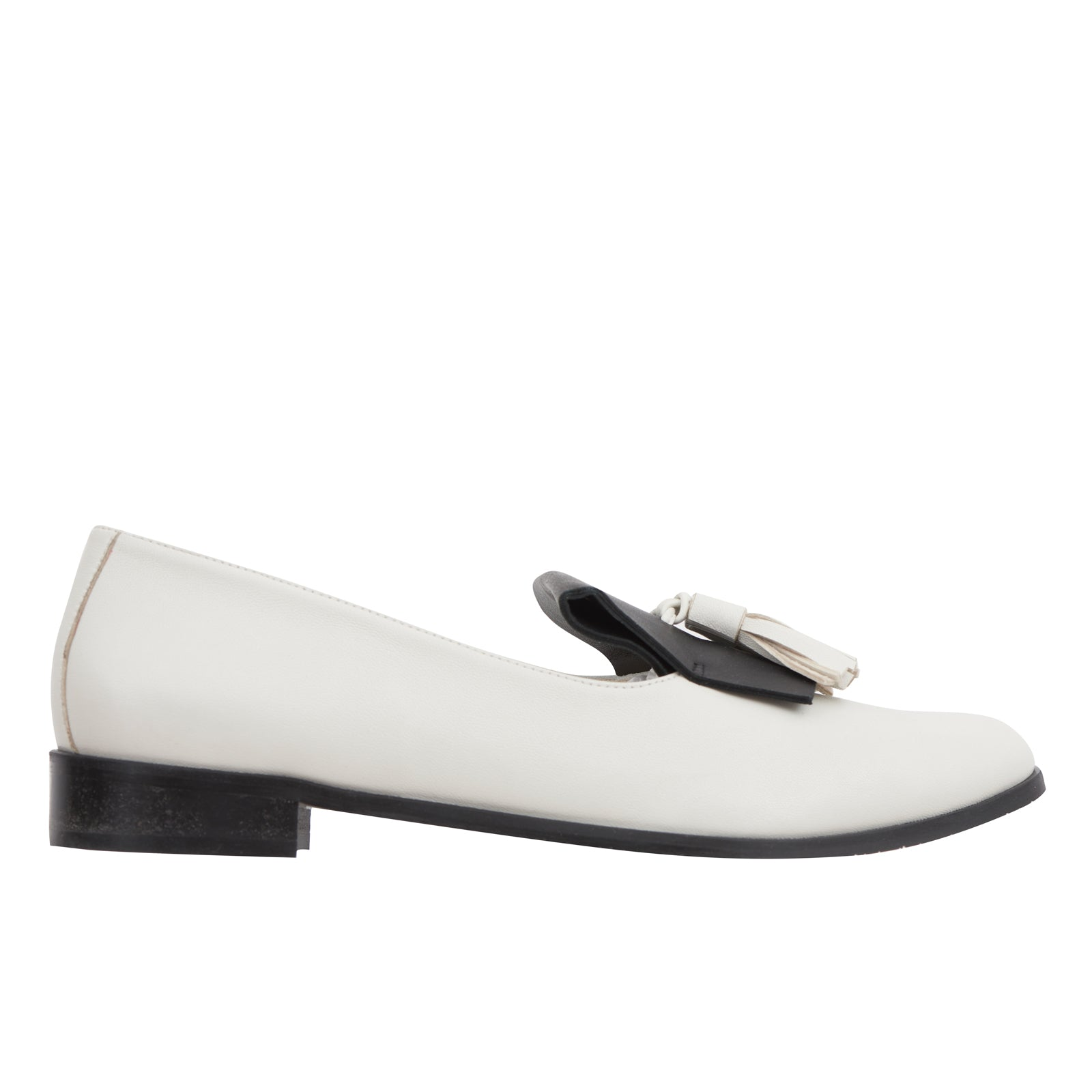 Ananda black and white leather Oxford