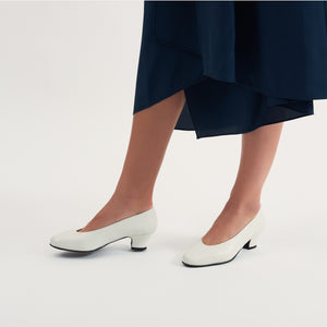 Yosuru shoes Shanti white leather pump