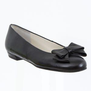 Yama black leather bow