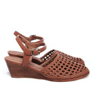 Large Shoes Size 10 to 13 | Provensen Bobby Sandal Tan - Side