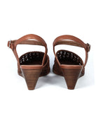Large Shoes Size 10 to 13 | Provensen Bobby Sandal Tan - Back