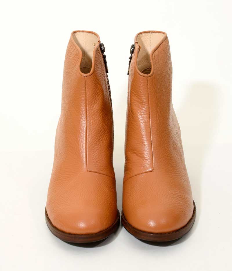 Ladies Large Size Shoes | Provensen Buddy Boot Tan - Front
