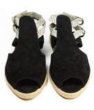 Womens Plus Large Size Shoes | Dot & Pete Suede Misfit Sandal